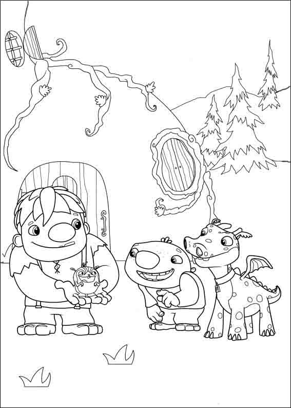 Imrpimir dibujos para colorear wallykazam 8 for Wallykazam coloring pages